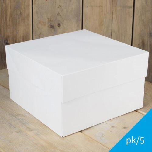 Tårtkartonger 25,4 cm, 5-pack