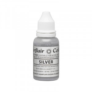 Karamellfärg Silver - Sugarflair Droplet Paint