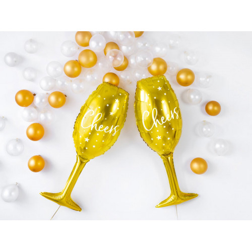 "Folieballong glas ""cheers"" - PartyDeco"