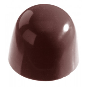Chocolate World Pralinform Kupol slät, 3 cm