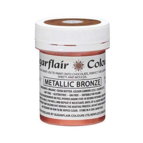 Chokladfärg Metallic Brons - Sugarflair