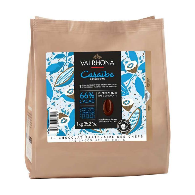 Valrhona Choklad Caraïbe 66%, 1 kg