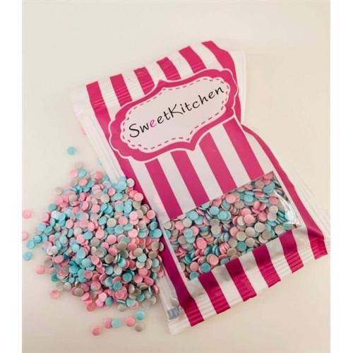 SweetKitchen mixad confetti strössel turkos rosa