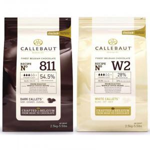 Vit & mörk choklad 5 kg - Callebaut