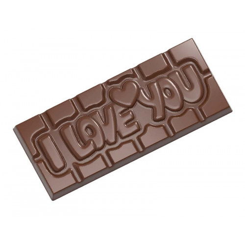 Pralinform chokladkaka - I Love You - Chocolate World