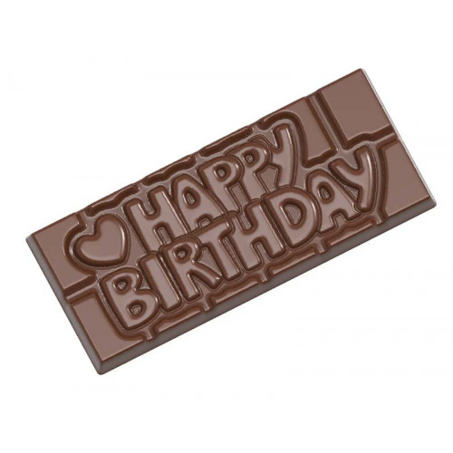 Pralinform chokladkaka - Happy Birthday - Chocolate World