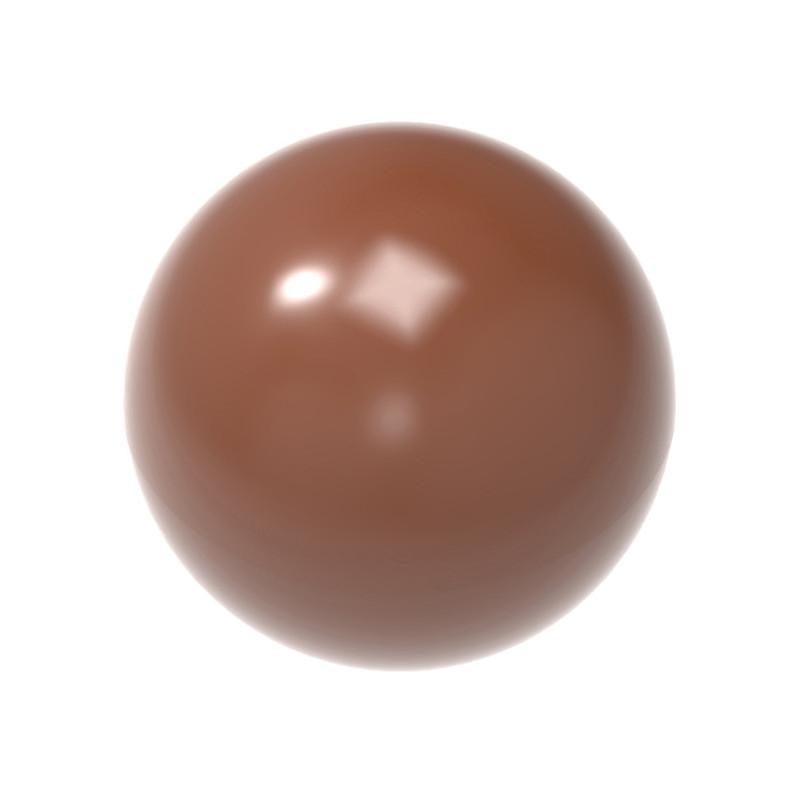 Pralinform Mini halvklot Ø 14 mm - Chocolate World