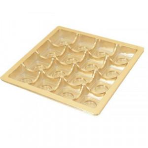 Insats i guld till pralinask 16 praliner - 3 st