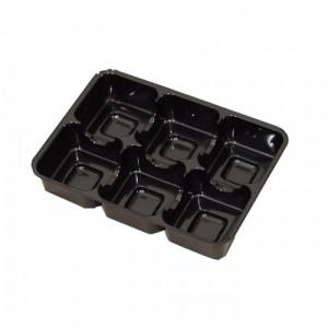 Insats i svart till pralinask 6 praliner - 3 st