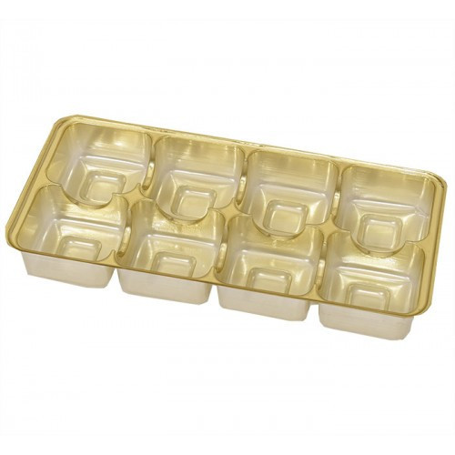Insats i guld till pralinask 8 praliner - 3 st