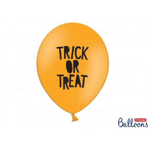 PartyDeco Ballonger Trick or Treat, orange