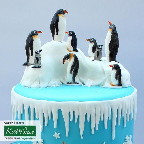 Pingvin familj, silikonform - Katy Sue