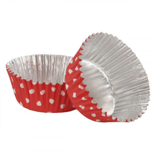 Muffinsform Red Polka Dot - PME