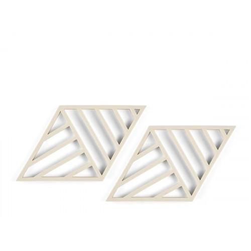 Rhombus Lines Grytunderlägg 2 st, Birch