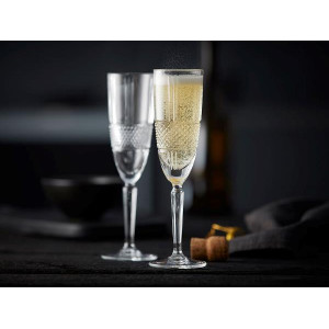 Brillante Champangeglas, 4 st - Lyngby Glas Krystal