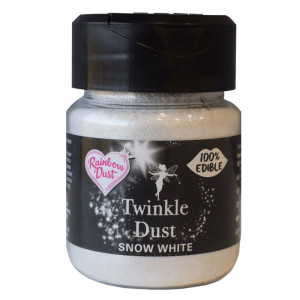 Pulverfärg Twinkle Dust Snow White 25 g - Rainbow Dust