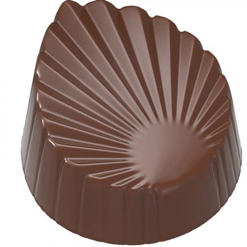 Chocolate mould leaf pleated CW1988 - Chocolate World