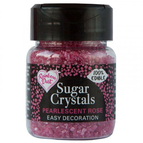 Rainbow Dust - Sugar Crystals, Rose, 50 g