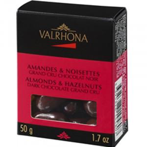 Valrhona - Mandel/Hasselnöt Mörk 50 gram