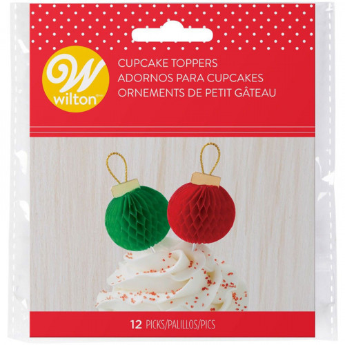 Cupcake Toppers Julkulor 12 st - Wilton