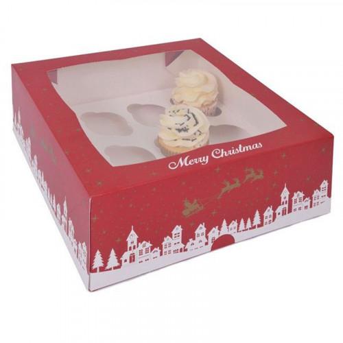House of Marie - Cupcake Box, Christmas PK/2