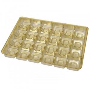 Insats i guld till pralinask 24 praliner - 3 st