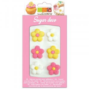 Sockerdekorationer Blommor- ScrapCooking