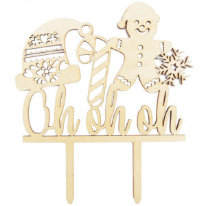 Oh, Oh, Oh -  Cake Topper - ScrapCooking