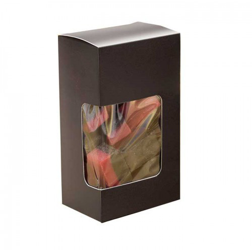Svarta askar med fönster, displayaskar - 3-pack