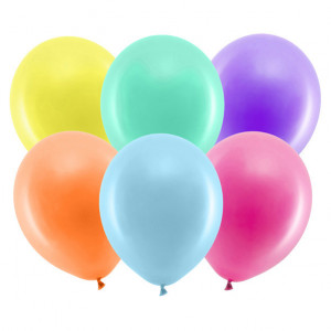 Rainbow ballonger,  Metallic Mix - PartyDeco