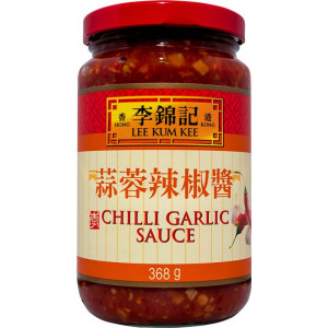Chili vitlöks sås från Lee Kum Kee.