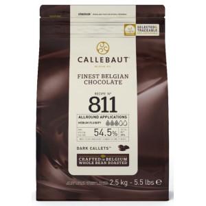 Callebaut Belgisk Choklad, 811, mörk, 2,5 kg