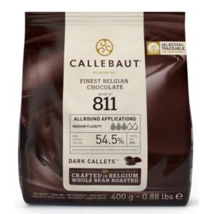 Chokladknappar mörk choklad 400 g - Callebaut 811