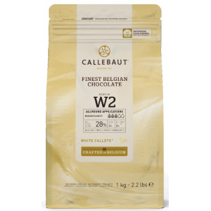 Belgisk Vit Choklad, 1 kg - Callebaut W2