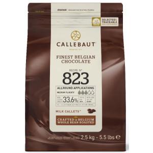 Callebaut Belgisk Mjölkchoklad 823, 2,5 kg