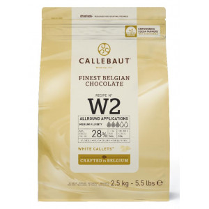 Callebaut Belgisk Choklad W2, vit, 2,5 kg