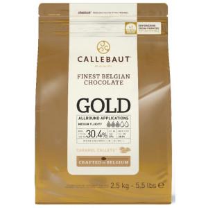 Callebaut Gold Belgiskt choklad Karamell, 2,5 kg