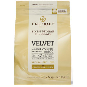 Belgisk Vit Choklad Velvet, 2,5 kg - Callebaut