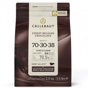 70 - 30 - 38 Callebaut Mörk Choklad - 2,5 kg.