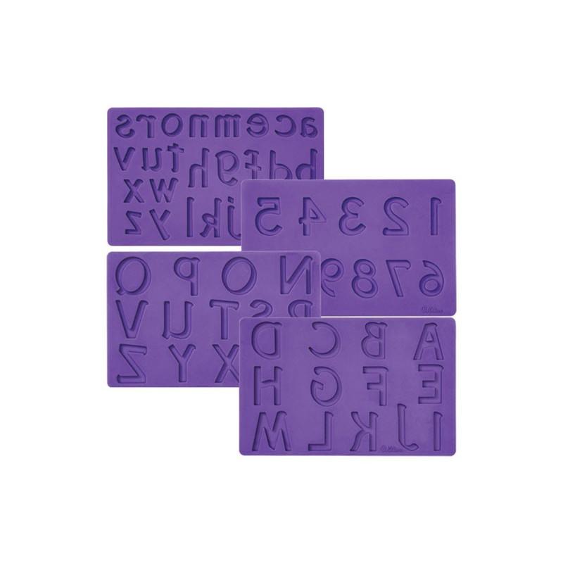 Silikonform Bokstäver och siffror - Wilton