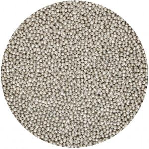 FunCakes Sockerpärlor, mini, silver