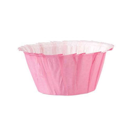 Muffinsform Pink Ruffled - Wilton