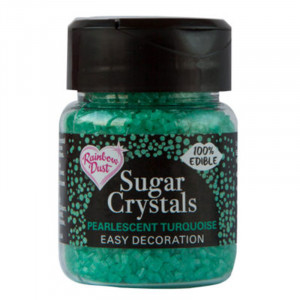 Rainbow Dust -  Sugar Crystals, Turkos, 50 g.