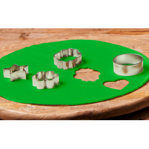 FunCakes Tårtlock i sockerpasta, grön