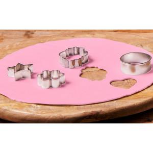 FunCakes Tårtlock i sockerpasta, rosa