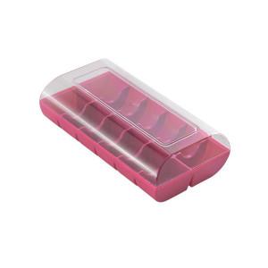 Macaron box, Fuchsia - 12 stycken - Silikomart.