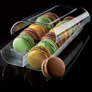 Macaron box, Transparent - 12 stycken - Silikomart.