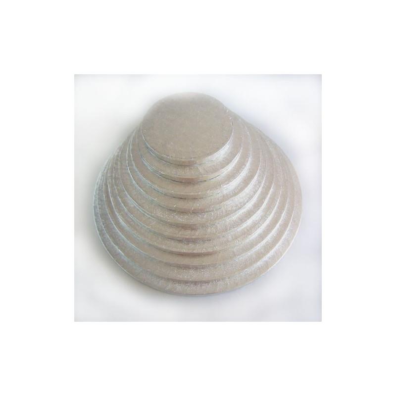 Tårtbricka silver, 25 cm - FunCakes