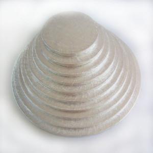 Silverfärgad Tårtbricka, 25 cm - FunCakes