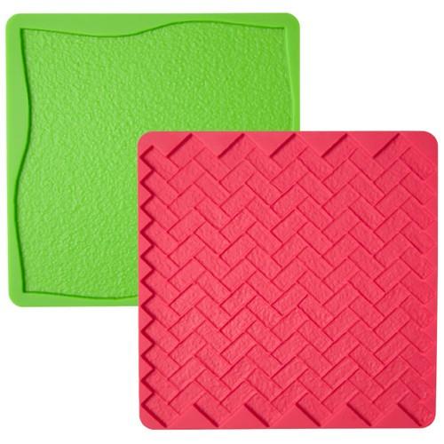 Wilton silikonform textur, gräs och tegel